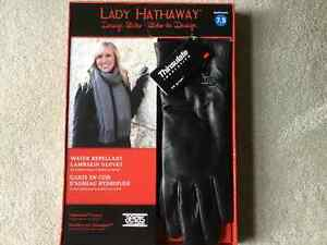 BRAND NEW LADY HATHAWAY LAMBSKIN GLOVES GIFT BOXED 7.5