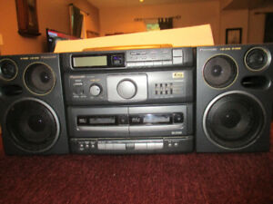 Panasonic Boom Box--RX-DT690 -CD Player--2 Tape Decks--AM & FM