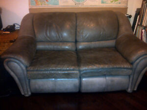 Free leather reclining loveseat--great condition