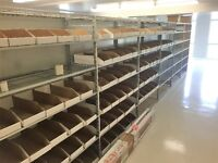 High end store shelving at liquidation price. Great for storeage