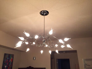 Just reduced!  Hand blown LED chandelier