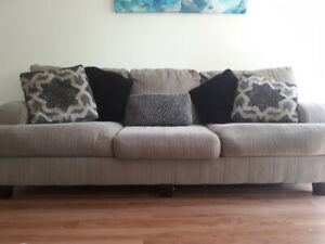 sofa set with coffee and end table...moving sale