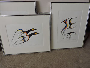 Indian prints - set of 4 -  Eastern First Nations