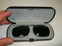 Clip-On Sunglasses With Hard case.
