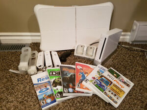 Wii Game System and Wii Fit Board