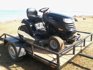 CRAFTSMAN RIDEON LAWNMOWER AND TRAILER