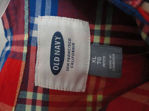Women's Old Navy red plaid flannel dress shirt buttondown XL NWT London Ontario image 3