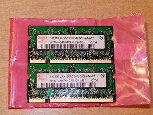 Laptop memory SODIMM 2 x 512Mb = 1Gb Oakville / Halton Region Toronto (GTA) image 1