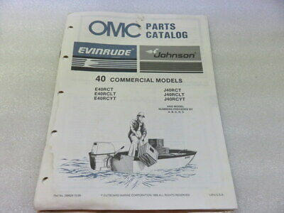 PM64 1987 OMC 40 Commercial Models Final Edition Parts Catalog Manual P/N 398624