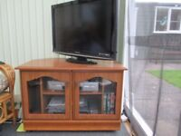 Glass fronted T.V and storage cabinet