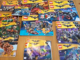 Lego batman instruction manuals only