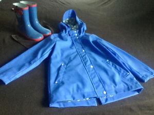 Raincoat and rainboots