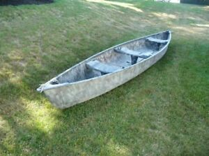 CAMO PAINTED 15.5 FOOT PELICAN CANOE WITH SKID PLATES