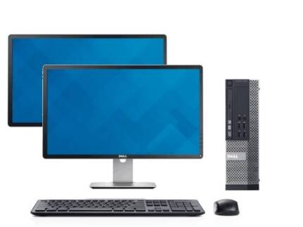 FAST i7 DELL DESKTOP PACKAGE WITH 2 NEW DELL MONITORS!