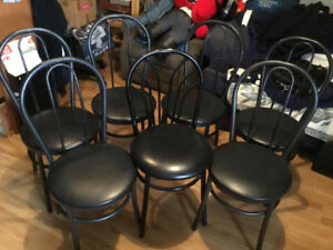 7 BAR STYLE DINING/ VARIOUS CHAIRS AND APPLIANCES