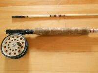 Canne moulinet a mouche, Fly Fishing rod and reel