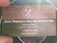 Jack's Lawn Care and Babysitting + Special!