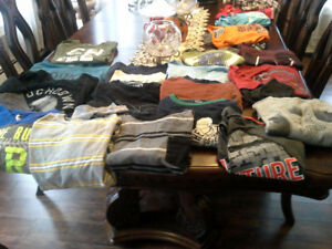 BOYS LONG SLEEVE TOPS SIZE XL ALL FOR $ 10.00'S