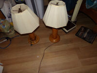 selling 2 wooden lamps