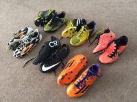Boys football boots (Individual or job lot) sizes 13.5 - 1