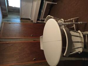 table et 4 chaises, erable