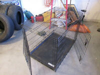 larger delux 2 door crate for dogs