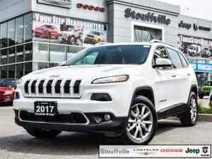 2017 Jeep Cherokee Limited 4X4, Roof, Navi, Leather, Only 13,700