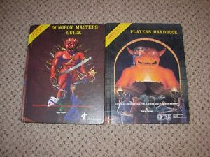Vintage Dungeon Masters Guide and Players Handbook -1980's