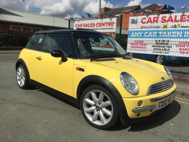 Mini Cooper 16 3dr Yellow Panoramic Roof Mot 2806