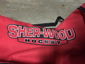 SherWood Hockey Bag - w/ Pullout Handle and Wheels