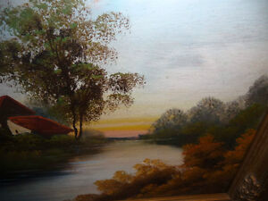 """Vintage Oil Painting, """"Early Morning River"""" 1920's Stratford Kitchener Area image 3"""