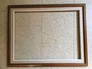 """Oak Wood Hardwood Picture Frame with Off White Liner 18"""" X 24"""""""