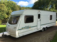 2003 LUNAR LEXON EW TWIN AXLE FIXED BED 4 BERTH TOURING CARAVAN END WASHROOM