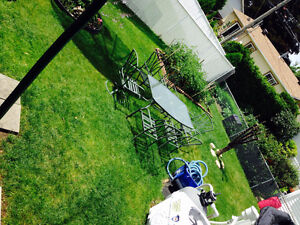 Patio set for sale with six chairs