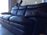 Brown Genuine Leather Sofa FOR SALE (Like New)