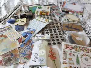 Box of scrapbooking supplies