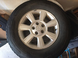 """16 Marshal Road Venture Winter Tires w/ Mazda rims-BARELY USED"