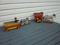 HORSE AND WAGONS ...$15 FOR BOTH