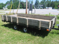 DUAL AXLE UTILITY TRAILER IN GOOD CONDITION. [FIRM]