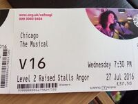 2 tickets for Chicago The Musical at the Millenium Centre
