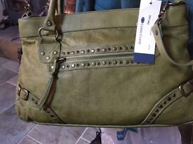 Carla Conti (New with tags) green leather handbag