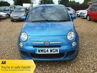 2014 (64) Blue 3 Door Fiat 500 S Manual Petrol