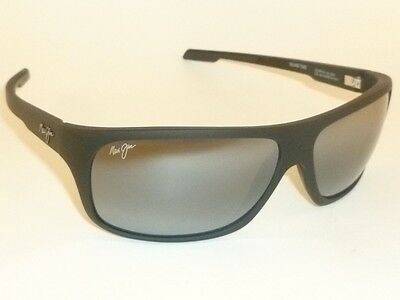 New Authentic Polarized  MAUI JIM  ISLAND TIME  Sunglasses  237-2M  Matte Black
