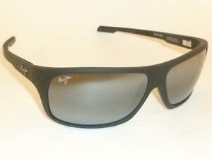 88829de407 New Authentic Polarized MAUI JIM ISLAND TIME Sunglasses 237-2M Matte Black