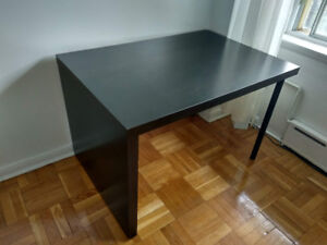 Ikea desk, leather chair for sale