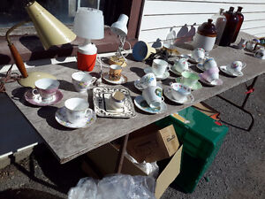 COLLECTION OF 13 CUPS & SAUCERS $ 5.00 EACH OR 45.00 FOR ALL