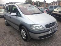 2002 VAUXHALL ZAFIRA 1.8i Comfort 7 SEATER Sony Stereo Wth Aux And USB