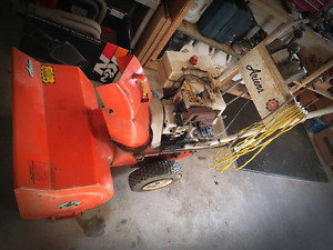 Old Used Snowblower