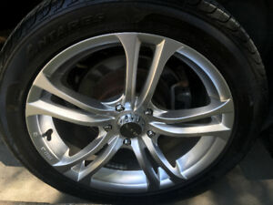 Wheels with Tires on Rims 114.5 x 5 with lug nutts 225/45/17