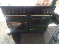 Black & green rang master 110cm gas cooker grill & double oven good condition with